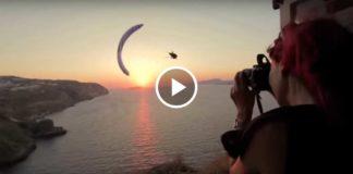 Потрясающе красивое парапланерное видео