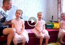 Очаровательные тройняшки поют песню про папу. Просто Чудо!