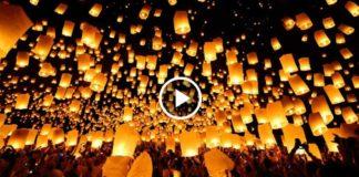 Парад небесных фонариков в пустыне Невады. Невероятная красота!